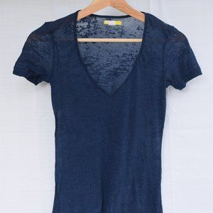 BDG from Urban Outfitters blue semi sheer t-shirt